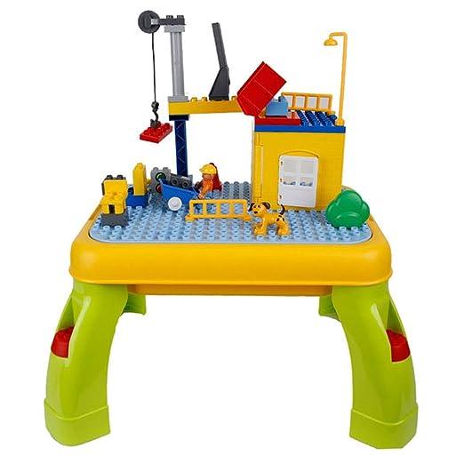 Toyplus Bloques de Mesa de Actividades para niños, Mesa de Juego ...