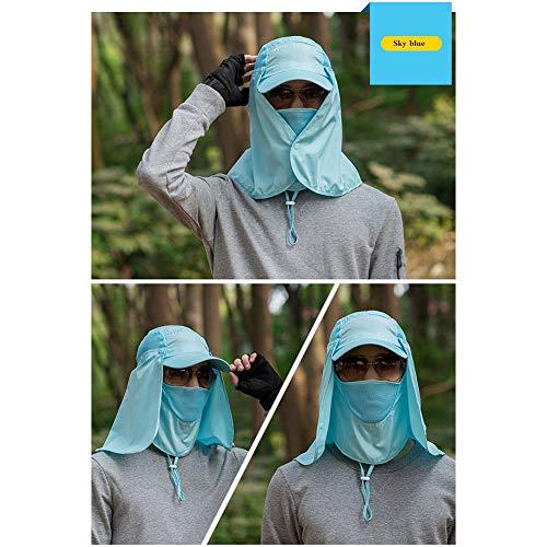 quanjucheer Capuchon de pêche, Protection UV extérieur pour Le Visage, Le Cou, la tête et la visière 6