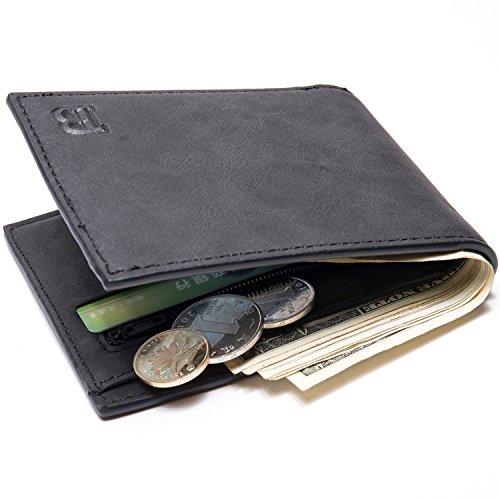 ory-made men's wallet Wallet Coins bag-wallet purse US dollars parcel AliExpress,black ()