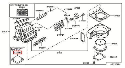 Infiniti Nissan Genuine Factory Original OEM IN CABIN MICRO AIR FILTER - FX35 FX45 G35 2DR - (2dr Air)
