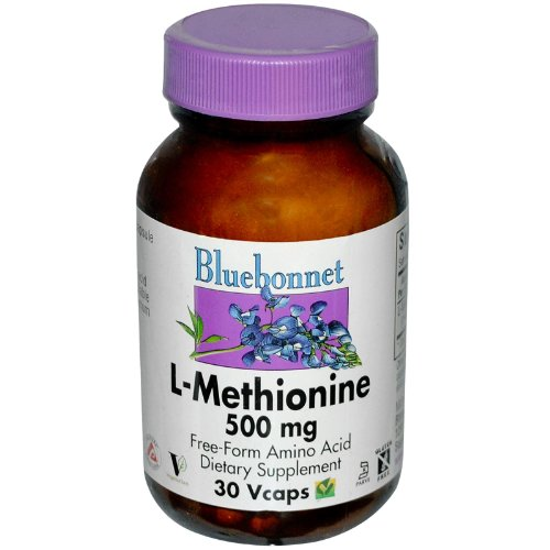 Blue Bonnet. L-méthionine 500 mg. 30 ct (2 Pack)