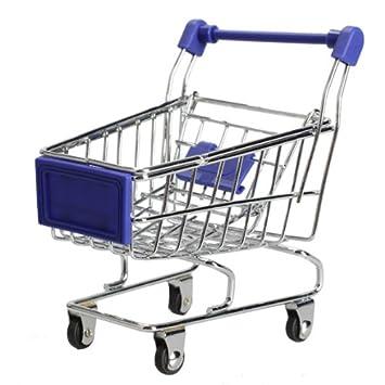 Vktech - Mini Carrito Supermercado Juguete Carro de Compra para Niñas (Azul): Amazon.es: Juguetes y juegos