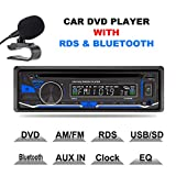 LSLYA(TM) 1 DIN 12V Car Stereo DVD/CD/Bluetooth Player Radio MP3/USB /SD/TF/AUX/FM/AM/RDS support with remote