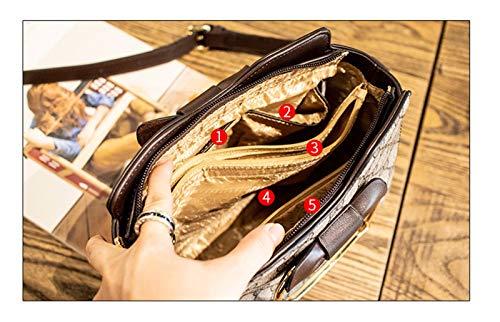 tracolla Lady Xuzishan tracolla caffè a pelle Borsa Messenger singola a tracolla Borsa moda a caffè in 7FF0dr
