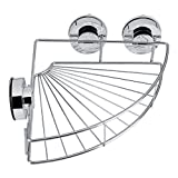 Fdit Triangle Stainless Steel Shelf Storage with Vacuum Suction Cup Kitchen Shower Corner Bathroom Shelf Floating