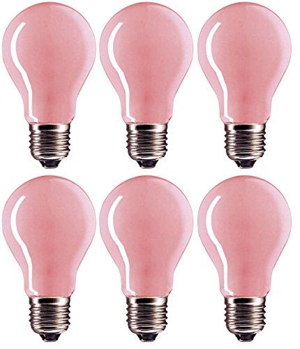 60 Watt A19 Soft Pink Incandescent Medium Base Light Bulb