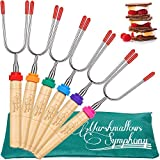 Carpathen Campfire Roasting Sticks for Marshmallow and Hot Dog - Set...