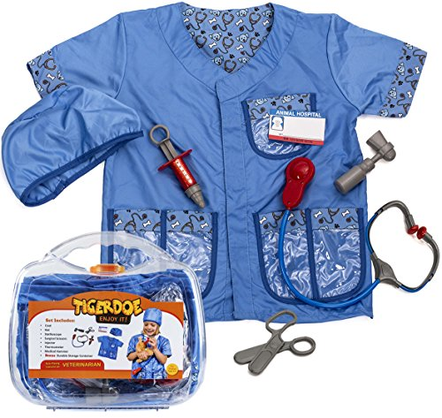 Vet Costume for Kids - Kids Vet Set - Vet Toys - Role Play - Pretend Play Clothes with Case by (Kids Vet Costumes)