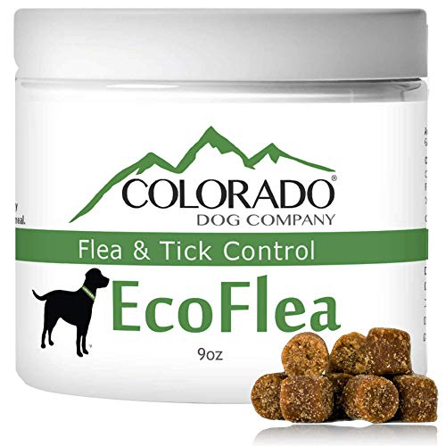 EcoFlea by ColoradoDog - 110 to 120 Count All Natural Chewable Dog Treats for Flea and Tick Treatment and Prevention (Best Flea And Tick Powder For Dogs)