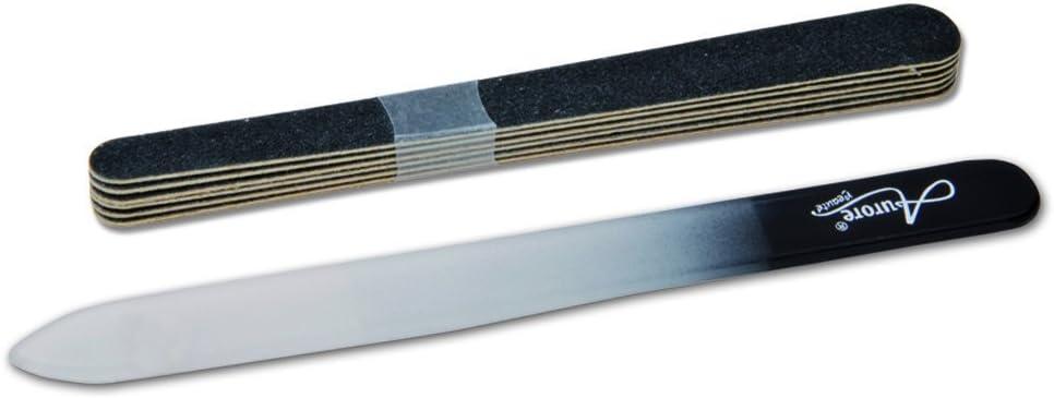 Lima de cristal esmeril-Set de manicura 6 unidades: Amazon.es: Belleza