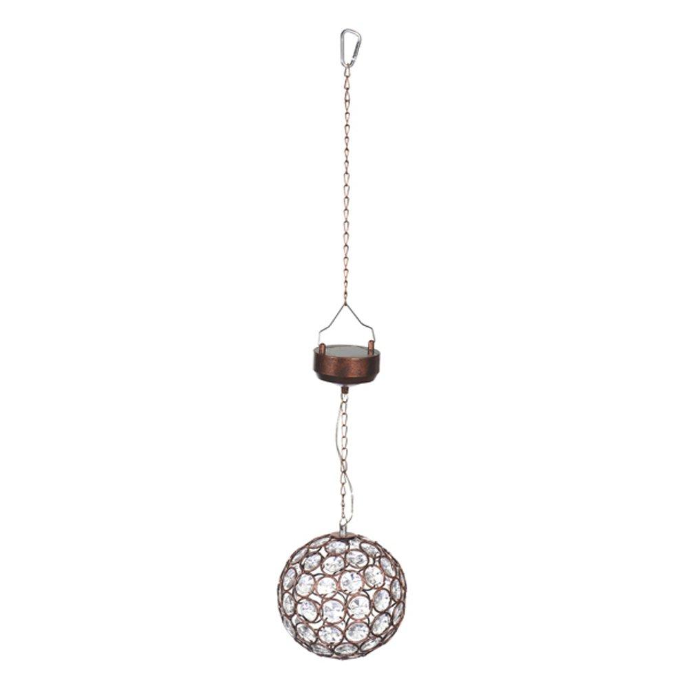 Grasslands Road Garden Glow Solar Hanging Crystal Ball (Bronze) by Grasslands Road