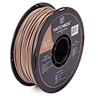 HATCHBOX 3D WOOD-1KG3.00 3D Printer Filament, Dimensional Accuracy +/- 0.03mm, 3.00 mm, 1 kg Spool, Wood by HATCHBOX