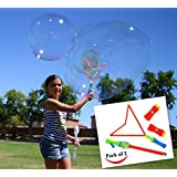 Joyin Toy 2 Pack Big Bubble Wand Making HUGE Bubbles with Highest Quality Giant Bubble Solution
