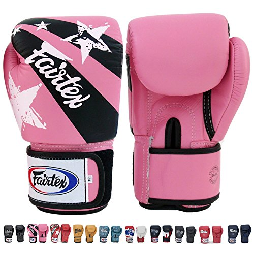 Muay Thai Punches - Fairtex Boxing Kickboxing Muay Thai Style Sparring Gloves Training Punching Bag Mitts (10 oz, Pink/Black)
