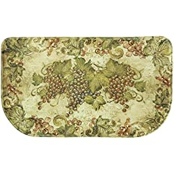 "Bacova Guild 78606 Standsoft Antique Grapes Anti-Fatigue Skid-Resistant Memory Foam Mat, 30"" x 18"""