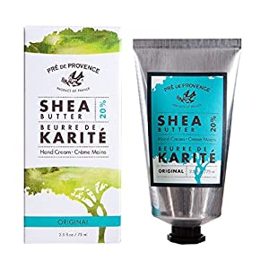Pre de Provence 20% Natural Shea Butter Hand Cream, For Repairing, Soothing, & Moisturizing Dry Skin, Original Scent, 2.5 Ounce