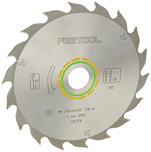 Festool 495379 Standard Ripping Blade for TS 75 Plunge Cut Saw - 18 Tooth