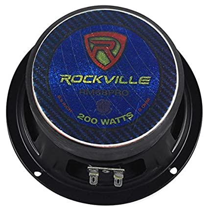 Rockville RXM84 8-Inch 250w 4 Ohm Mid-Bass Driver Car Audio Speaker Kevlar Cone-Set of 1