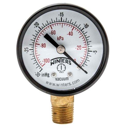 (Winters PEM Series Steel Dual Scale Economy Pressure Gauge, 30