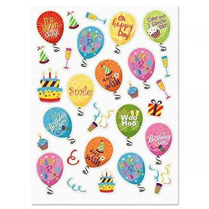 Amazon Current Birthday Balloons Words Stickers