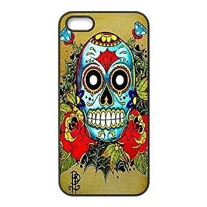 ALICASE Diy Customized Hard Case Sugar Skull for iPhone 5,5S [Pattern-1]
