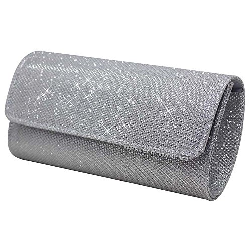 Bag Silver Clutch Prom Wocharm Handbags Black Bag Party Silver Purse Gold Bridal Ladies Clutch Glitter Wedding Womens fqx6x7C
