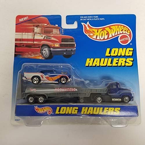 1997 Hot Wheels Long Haulers Transport with Exclusive Diecast Chevy Car 1/64 ()