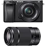Sony Alpha a6300 Mirrorless Digital Camera Lens Bundle - 2 Lens Kit (Black)
