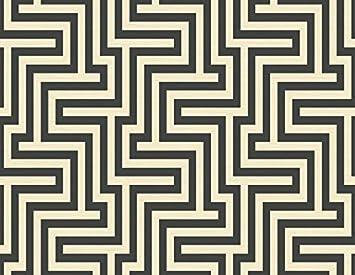 Wallpaper Designer Black And Cream Large Modern Geometric