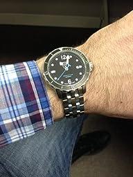 Tissot Men's T0664071105700 SeaStar Black Automatic Dial Watch: Tissot