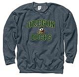 Shop College Wear Oregon Ducks Men's Crew-Neck Sweatshirt-Charcoal
