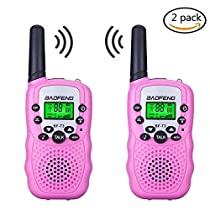 Kids Walkie Talkies,fiveaccy 22 Channel Walkie Talkies 2 Way Radio 3-5 KM FRS/GMRS Handheld Mini Walkie Talkies Holiday Gifts for Outdoor Camping Hiking