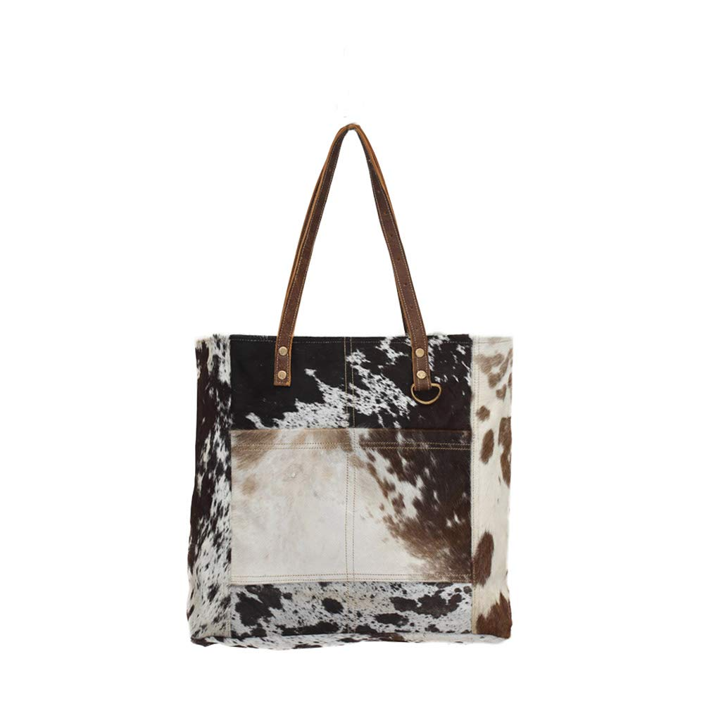 8c57713bb9c Amazon.com: Myra Bags Pocket Genuine Leather with Cowhide Shoulder Bag  S-0722: Playfully Ever After