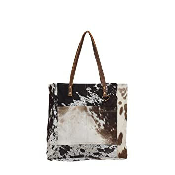 527d987cd00f Amazon.com: Myra Bags Pocket Genuine Leather with Cowhide Shoulder Bag  S-0722: Playfully Ever After