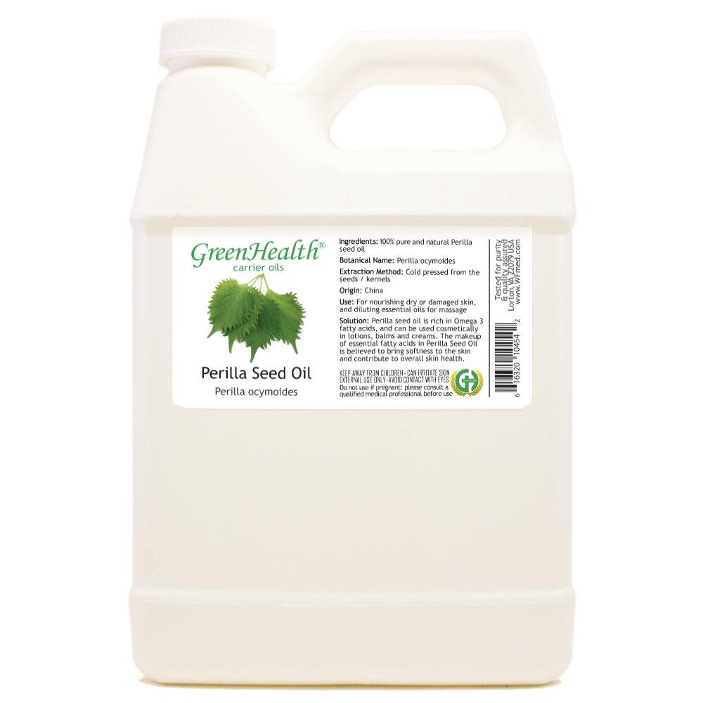 GreenHealth Perilla Seed Oil - 32 fl oz (946 ml) - 100% Pure, Cold Pressed