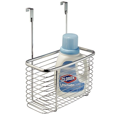 InterDesign Axis Over the Cabinet Kitchen Storage Organizer Basket for Aluminum Foil, Sandwich Bags, Cleaning Supplies - Large, Chrome by InterDesign (Image #3)