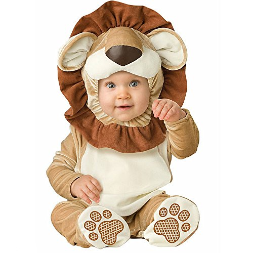 XXOO Toddler Baby Infant Lion Dress up Outfit Costume,Brown&cream,80CM (7-9 Months)