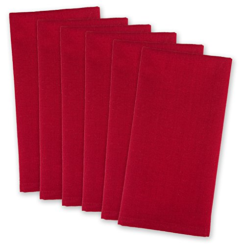 DII 100% Cotton Cloth Napkins, Oversized 20x20 Dinner Napkins, For Basic Everyday Use, Banquets, Weddings, Events, or Family Gatherings - Set of 6, Cardinal Red Cardinals Cotton