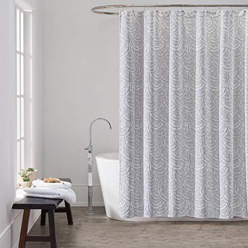 Aurora Shower Curtain, One Size, Gray/White