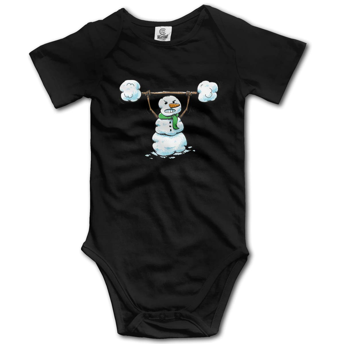 Snowman Workout Unisex Solid Baby Short Sleeve Romper Pajamas 0-2T