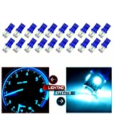 2006 audi a4 center console - CCIYU 20 Pack Ice Blue T10 W5W Wedge 168 194 LED Bulb for 2013 2014 2015 Infiniti JX35 (QX60) Dome Light Map Light Step/Courtesy/Door Light
