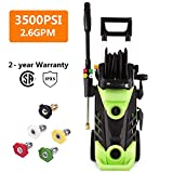 Homdox 3500 PSI Power Washer Electric Pressure Washer 2.6 GPM 1800W Electric Power