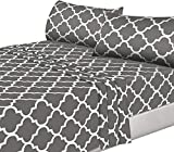 Utopia Bedding 4PC Bed Sheet Set 1 Flat Sheet, 1 Fitted Sheet, and 2 Pillow Cases (King, Grey)