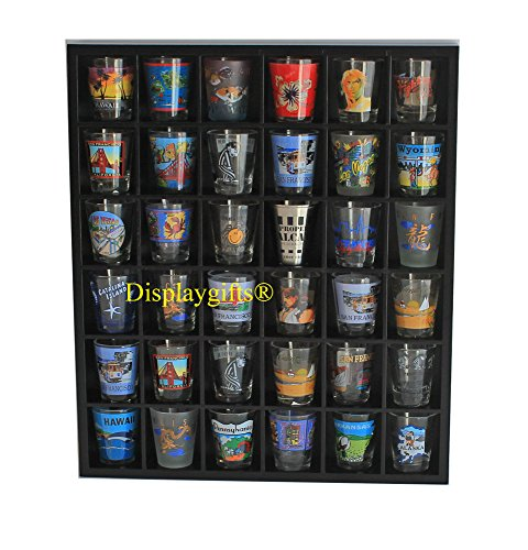Shot Glass Curio Holder/Miniature Collectibles Wall Display