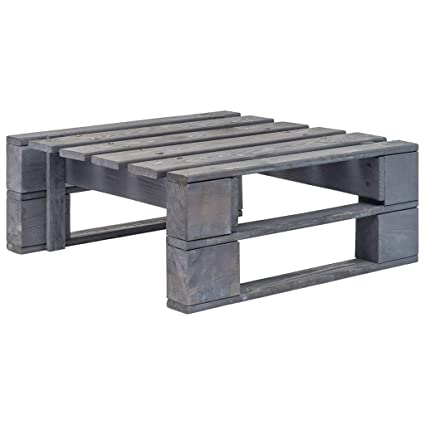vidaXL Repose-pied Palette de Jardin FSC Pouf Tabouret Table ...
