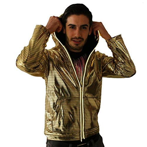 Electric Styles Light Up Astrohoodie (Large, Gold) -