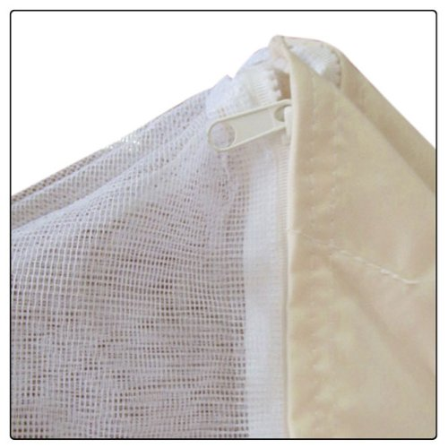 10x10 feet 121x121 inch square ivory poly vinyl garden for 10x10 in square feet