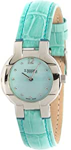 Sigma Casual Watch for Women, Leather Analog, blue - SE5814BL1664