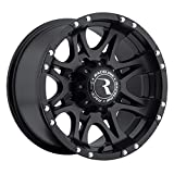 Raceline Raptor 17 Black Wheel / Rim 8x6.5 with a -12mm Offset and a 130.81 Hub Bore. Partnumber 981-79080