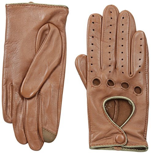 Unlined Leather Driver (Touchpoint Women's Driver, Saddle, Medium)